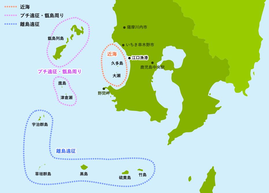 釣り場所地図